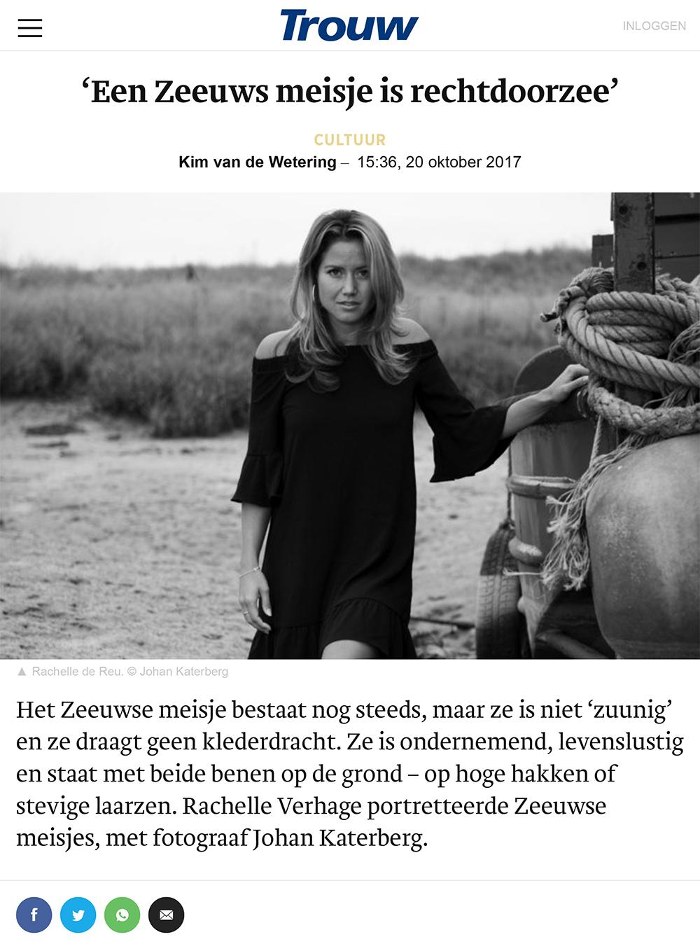 Op zoek naar het echte Zeeuwse meisje - Fotograaf Johan Katerberg